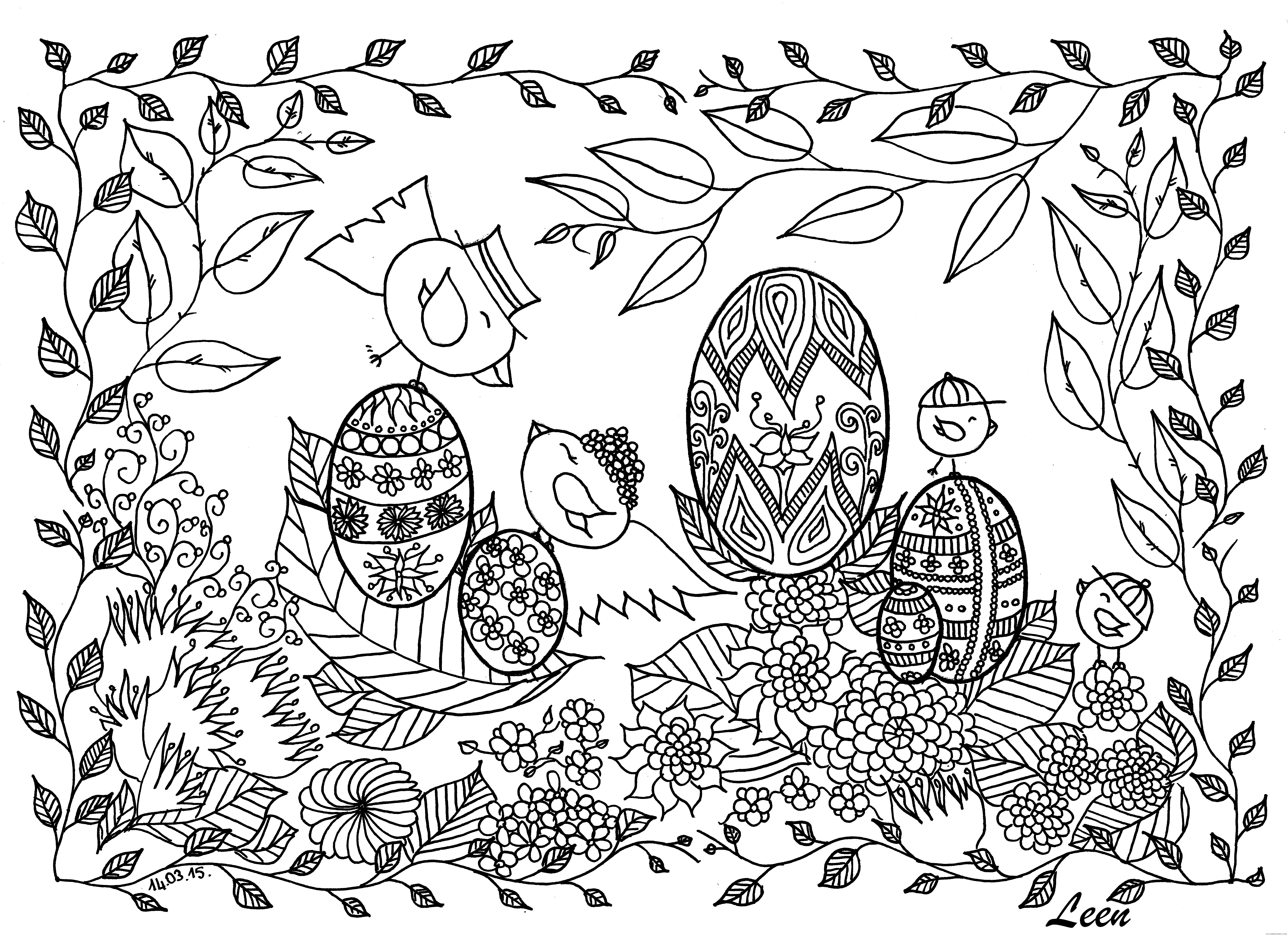 Adult Easter Coloring Pages Free Easter for Adults Printable 2020 254 Coloring4free