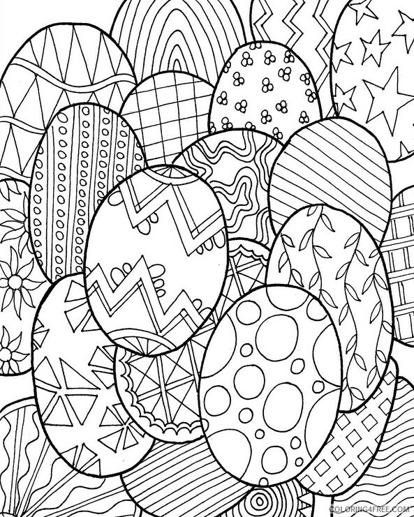Adult Easter Coloring Pages Hard Easter for Adults Printable 2020 256 Coloring4free