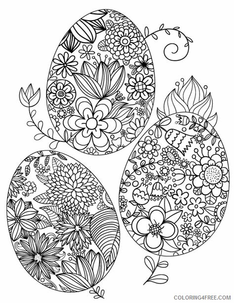 Adult Easter Coloring Pages Printable Easter for Adults Printable 2020 257 Coloring4free