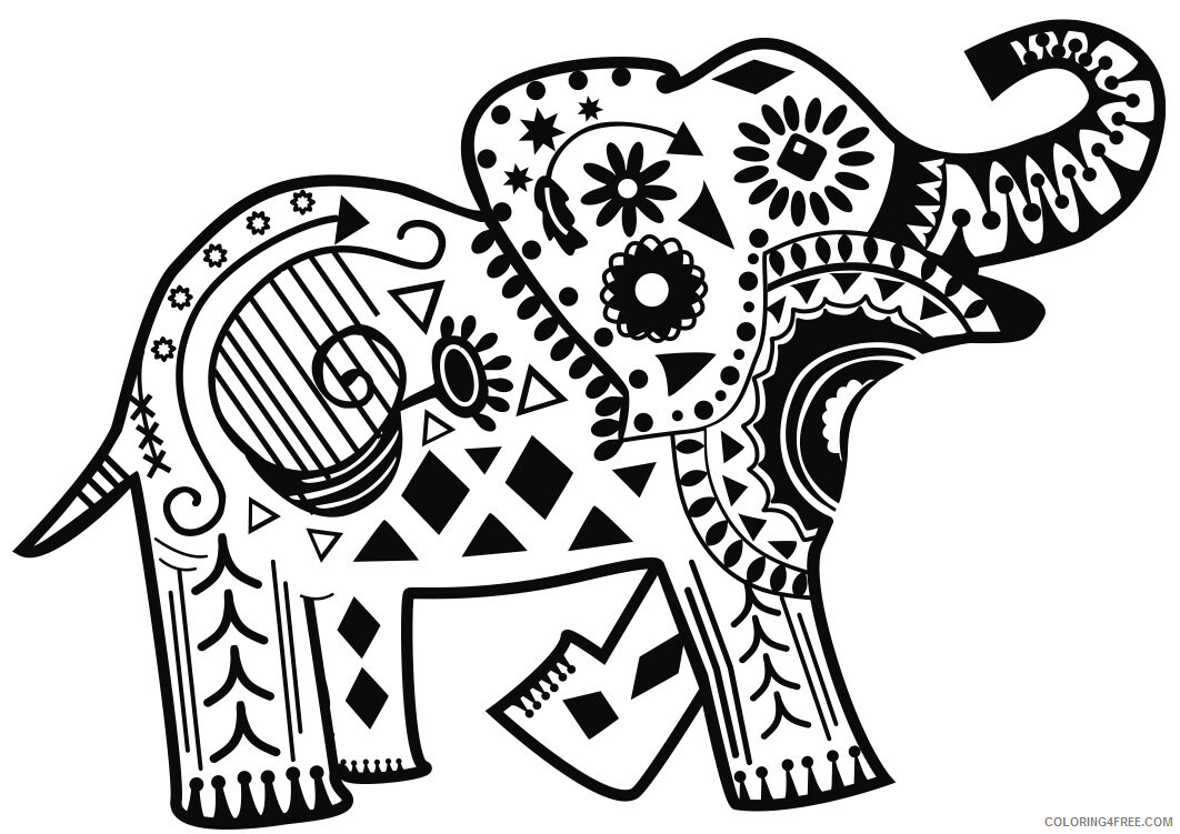 Adult Elephant Coloring Pages Cute Toy Elephant for Adults Printable 2020 262 Coloring4free
