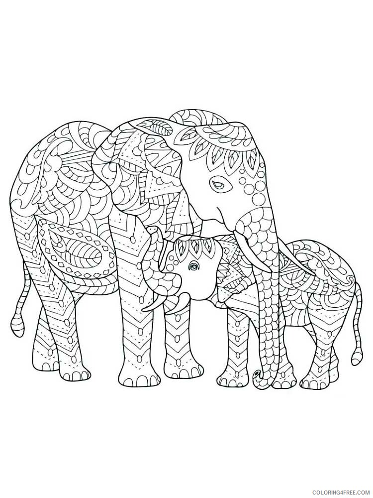 Adult Elephant Coloring Pages Elephant For Adults 11 Printable 2020 268 Coloring4free Coloring4free Com