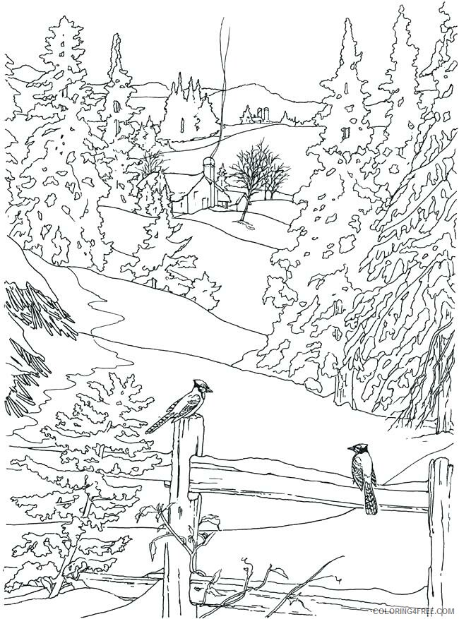 Adult Fall Coloring Pages Fall Scene for Adults Printable 2020 294 Coloring4free