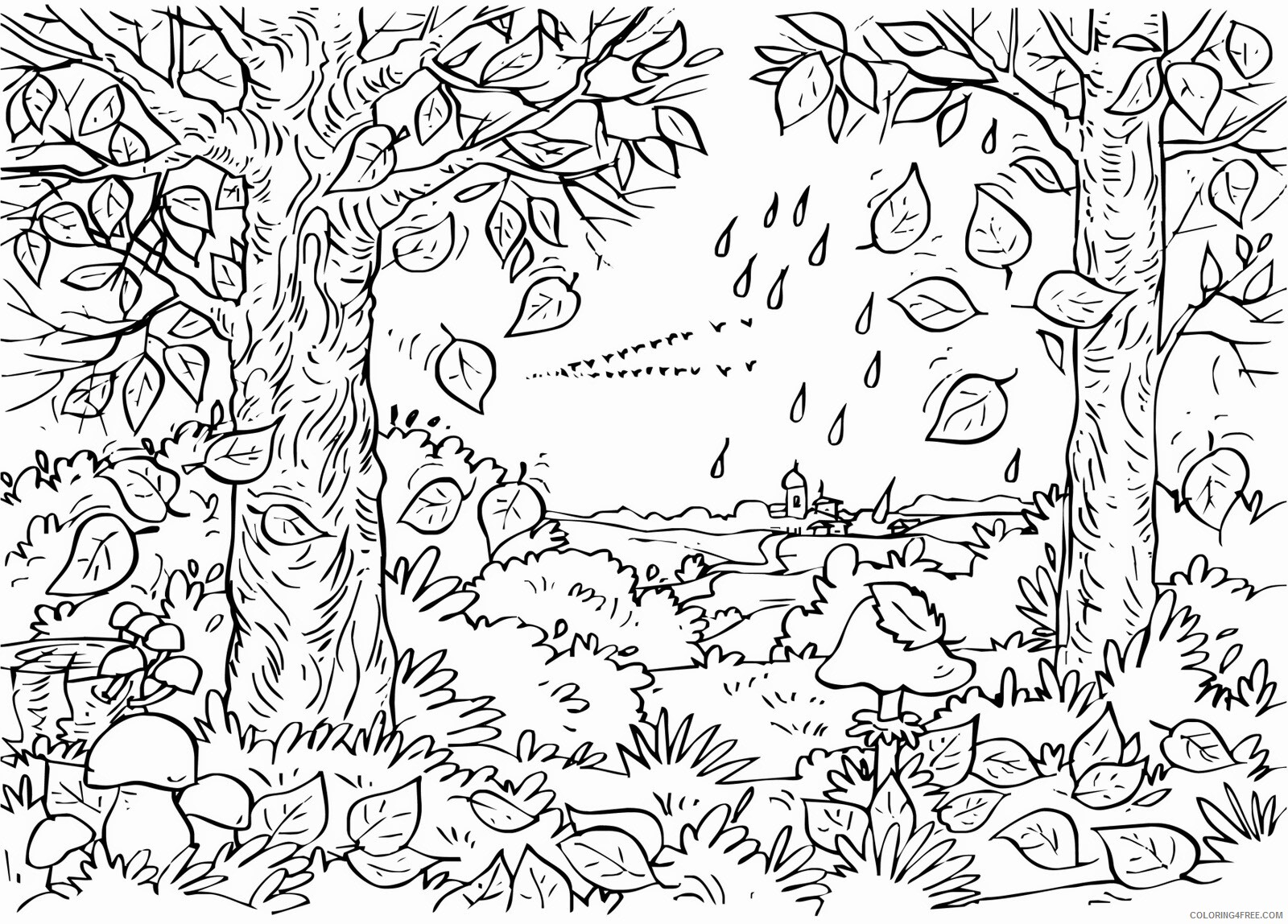 Adult Fall Coloring Pages Fall for Adults Free Printable 2020 290 Coloring4free