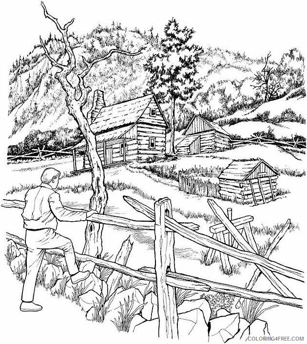 Adult Fall Coloring Pages Outdoor Fall for Adults Printable 2020 301 Coloring4free