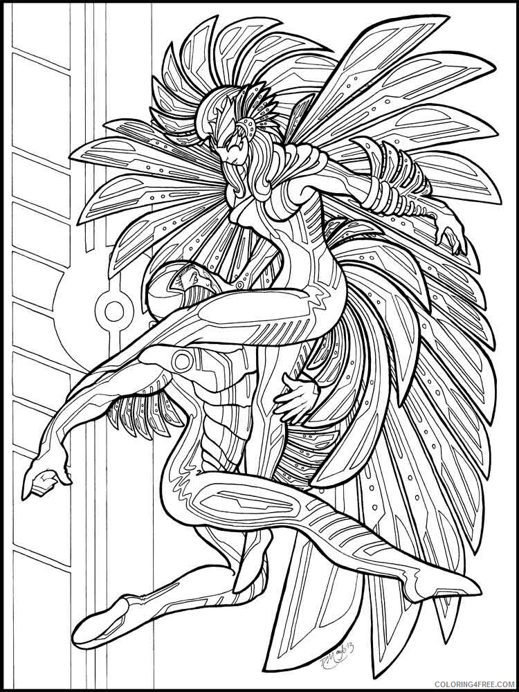Adult Fantasy Coloring Pages fantasy adult 13 Printable 2020 305 Coloring4free