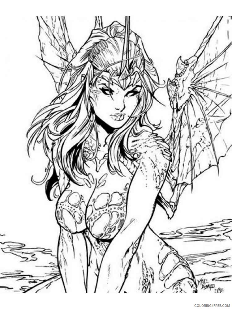 Adult Fantasy Coloring Pages Fantasy Adult 3 Printable 2020 312 Coloring4free Coloring4free Com