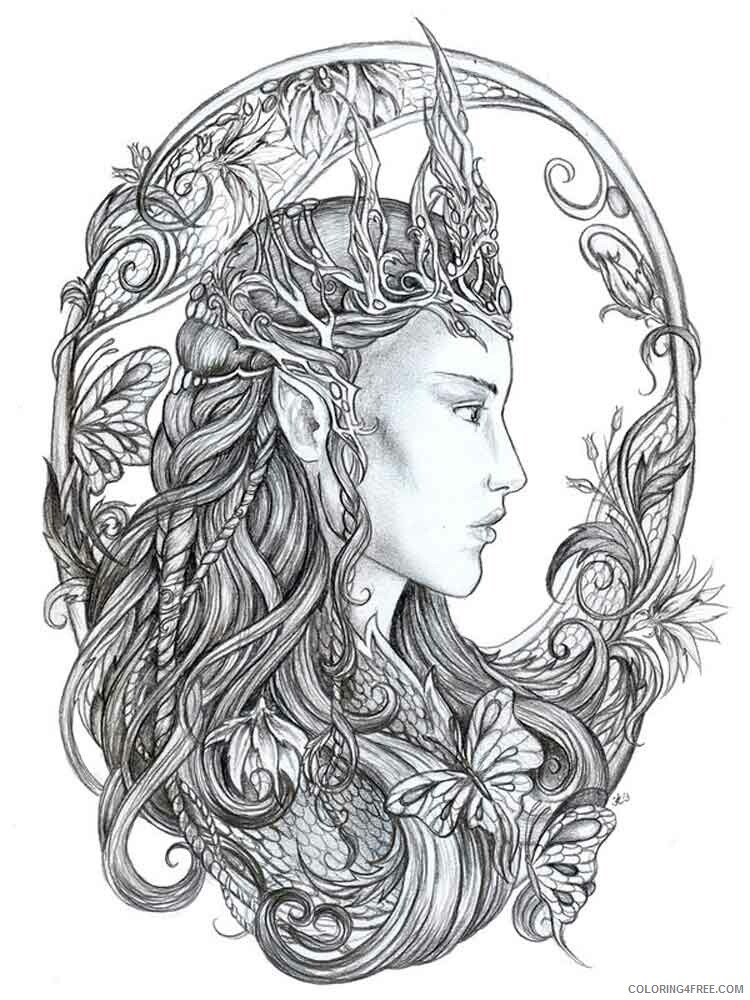 Adult Fantasy Coloring Pages fantasy adult 4 Printable 2020 313 Coloring4free