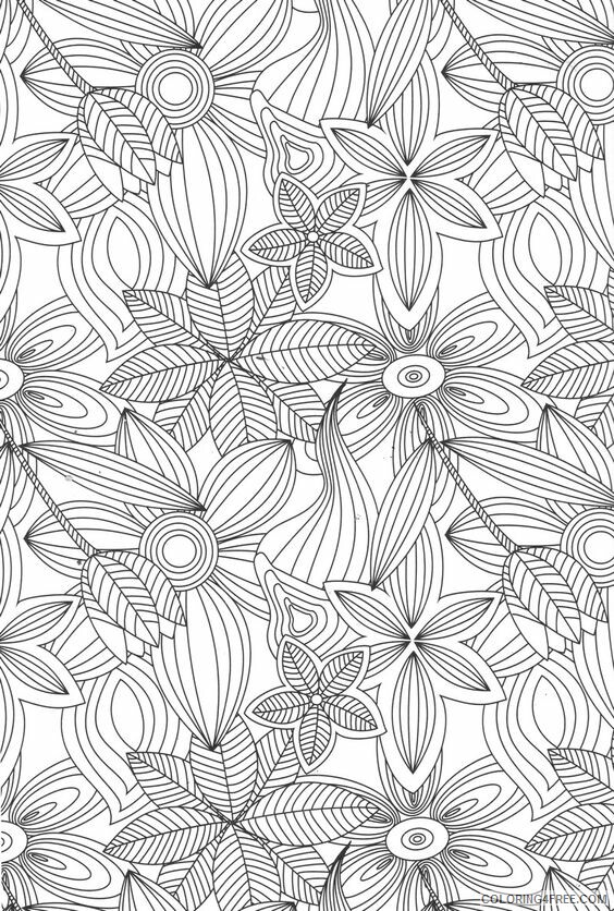 Adult Floral Coloring Pages Adult Flower Printable 2020 318 Coloring4free