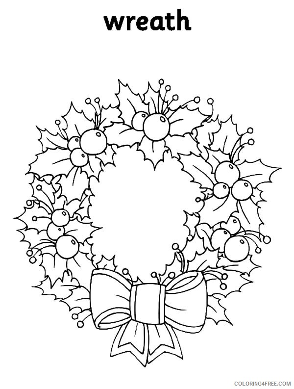 Adult Floral Coloring Pages Floral Decorative Christmas Wreaths Print 2020 346 Coloring4free