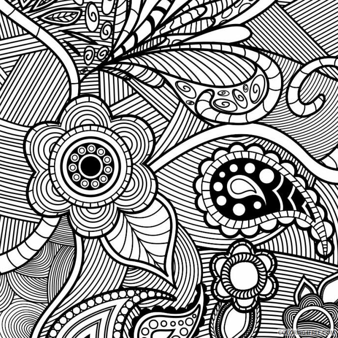 Adult Floral Coloring Pages Floral Pattern For Adults Printable 2020 349 Coloring4free