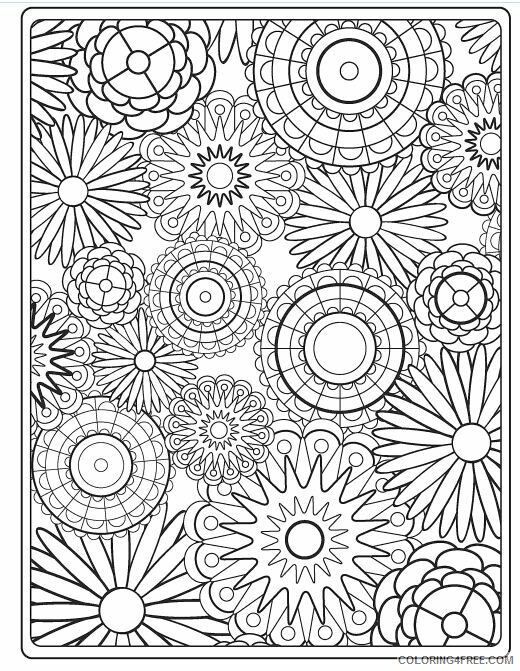 Adult Floral Coloring Pages Hard Flower for Adults Printable 2020 369 Coloring4free