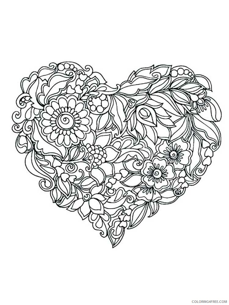 Adult Floral Coloring Pages floral for adults 12 Printable 2020 329 Coloring4free