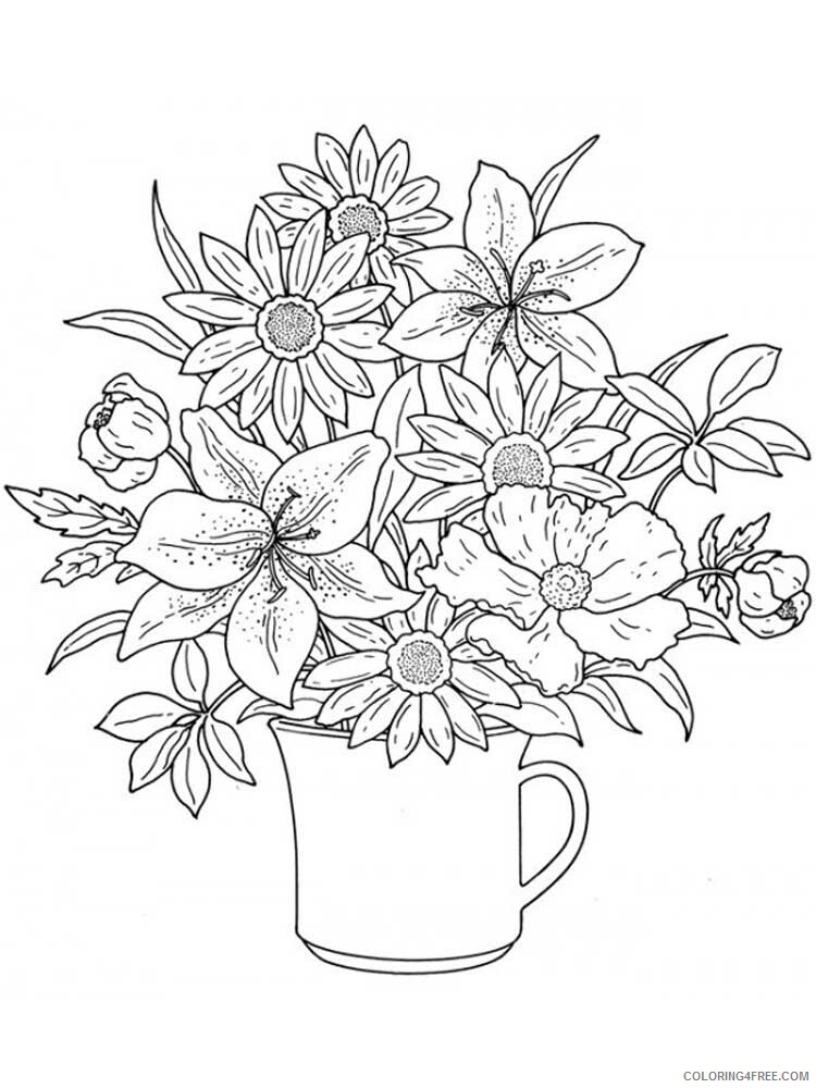 Adult Floral Coloring Pages floral for adults 15 Printable 2020 331 Coloring4free