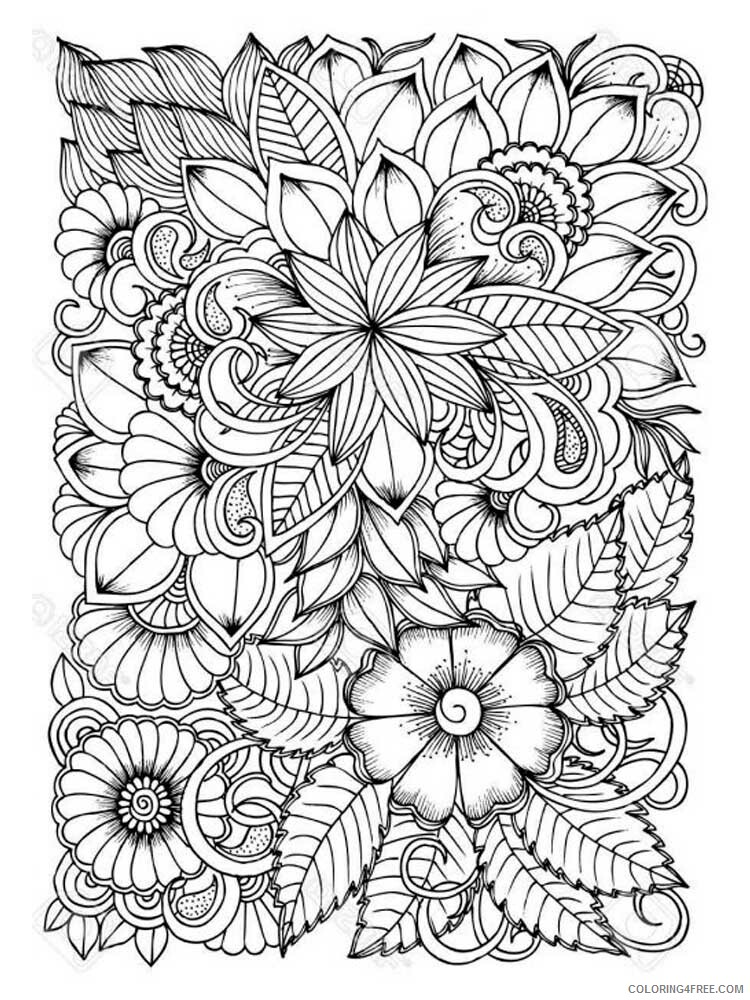 Adult Floral Coloring Pages floral for adults 16 Printable 2020 332 Coloring4free