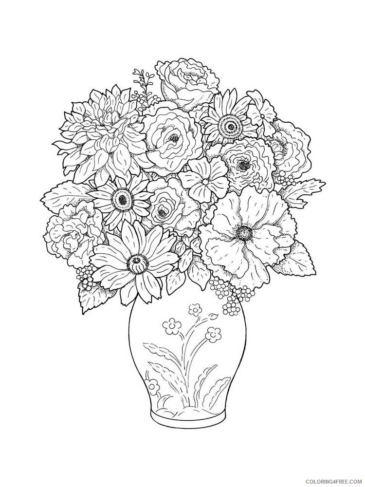 Adult Floral Coloring Pages floral for adults 17 Printable 2020 333 Coloring4free