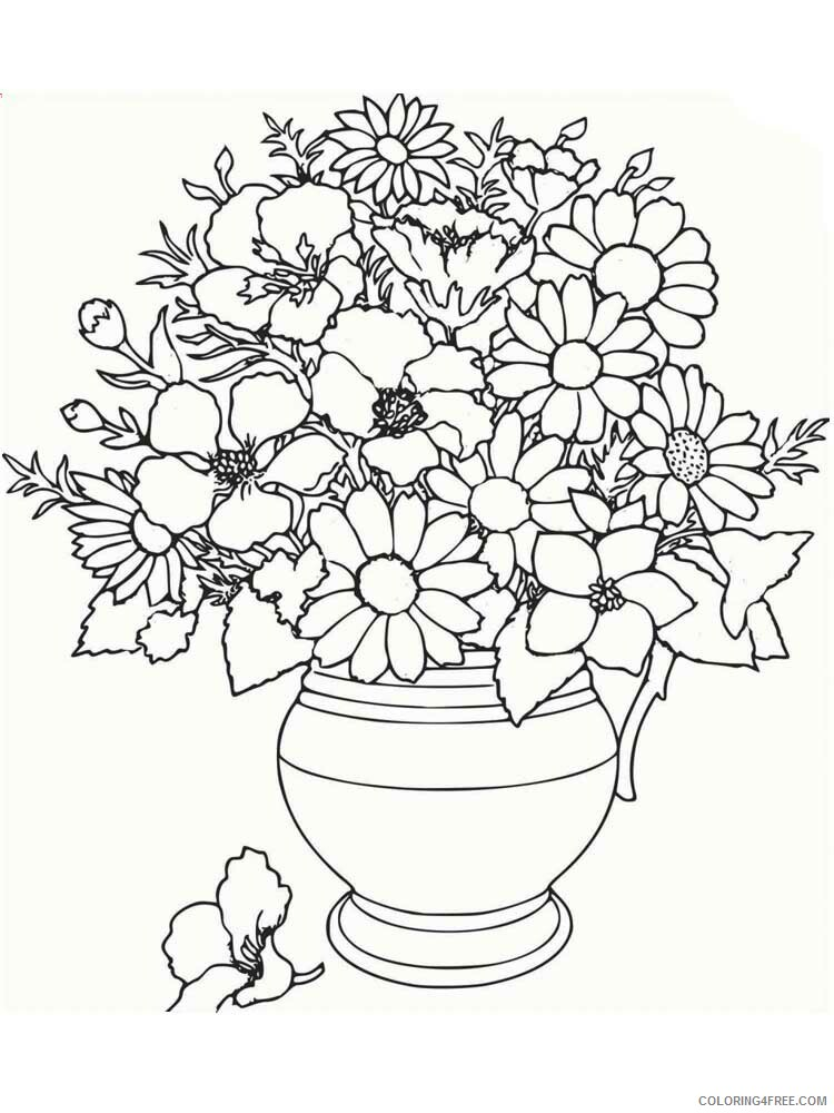Adult Floral Coloring Pages floral for adults 19 Printable 2020 335 Coloring4free