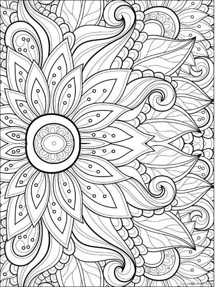 Adult Floral Coloring Pages floral for adults 2 Printable 2020 336 Coloring4free