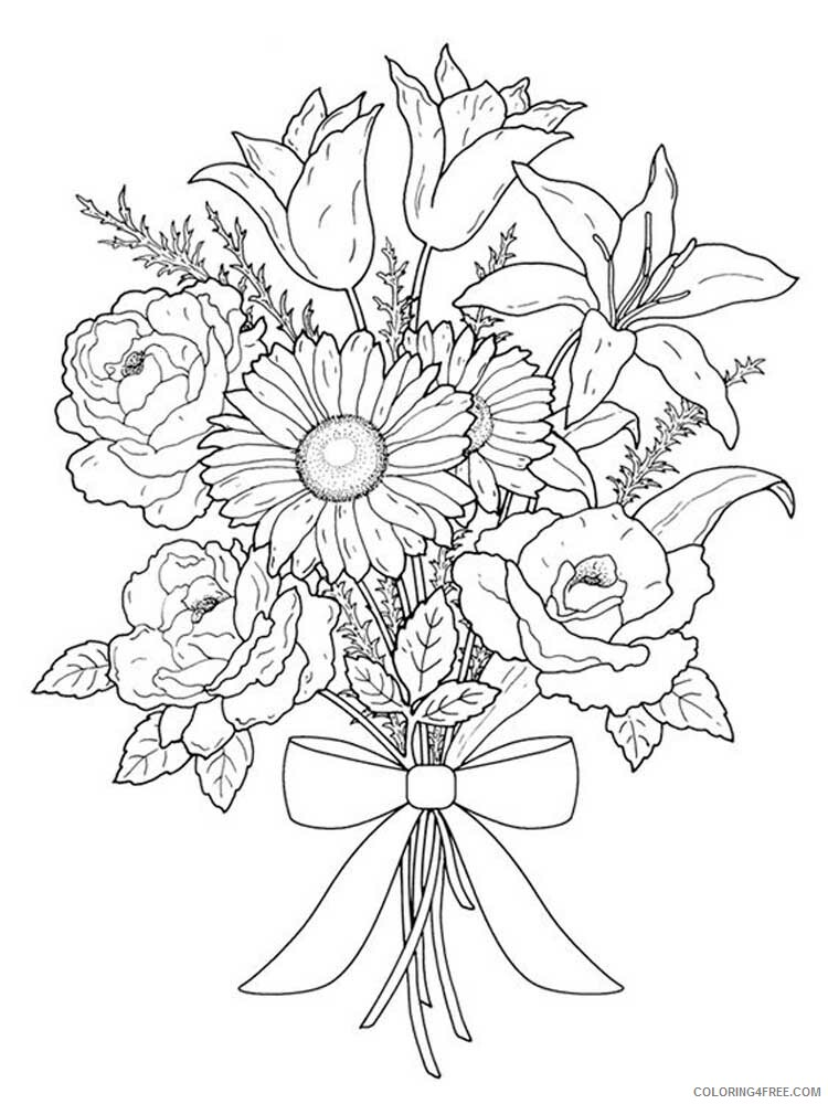 Adult Floral Coloring Pages floral for adults 20 Printable 2020 337 Coloring4free
