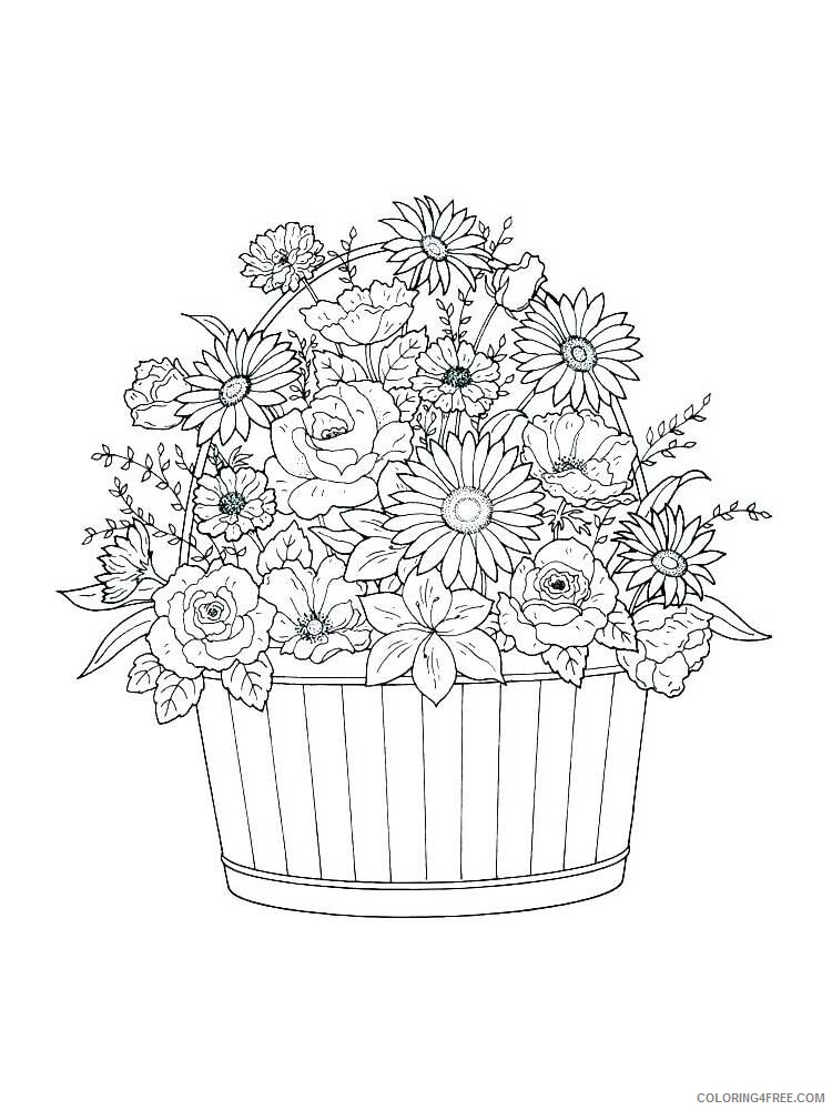 Adult Floral Coloring Pages floral for adults 21 Printable 2020 338 Coloring4free
