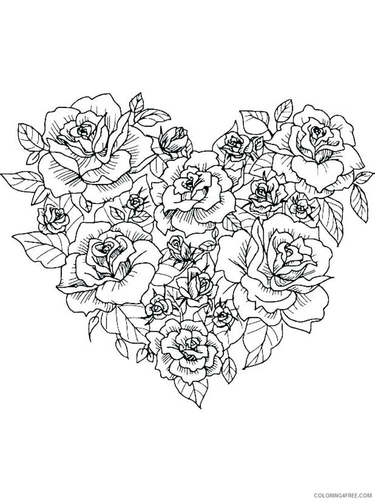 Adult Floral Coloring Pages floral for adults 9 Printable 2020 345 Coloring4free