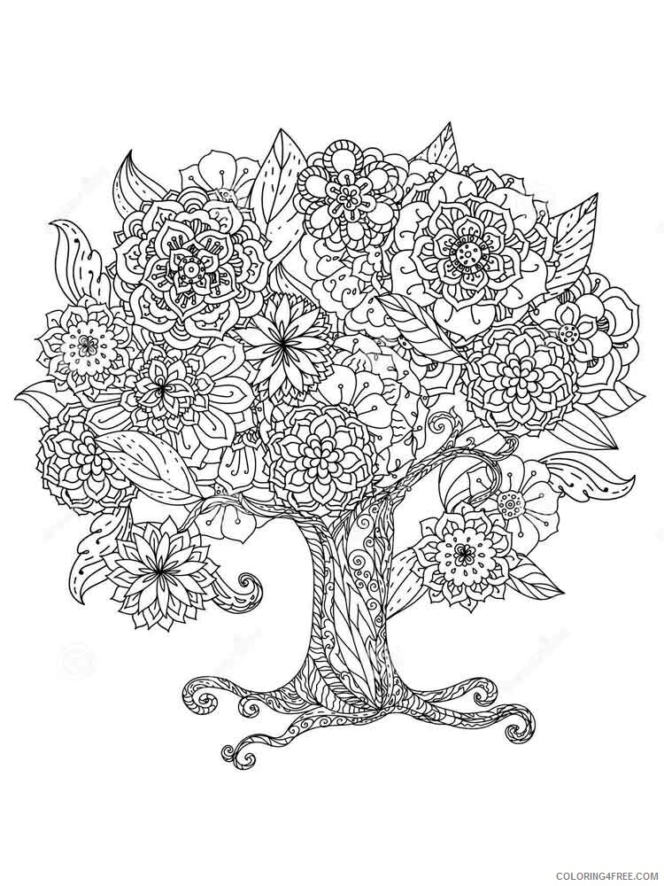Adult Flowers Coloring Pages adult flowers 11 Printable 2020 378 Coloring4free