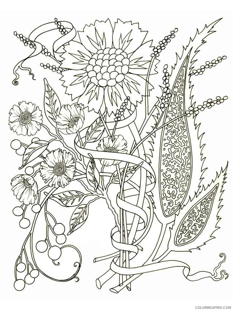 Adult Flowers Coloring Pages adult flowers 19 Printable 2020 384 Coloring4free