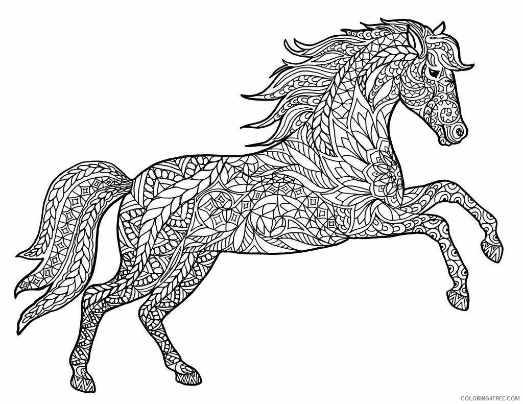 Adult Horse Coloring Pages Hard Horse for Adults Printable 2020 393 Coloring4free