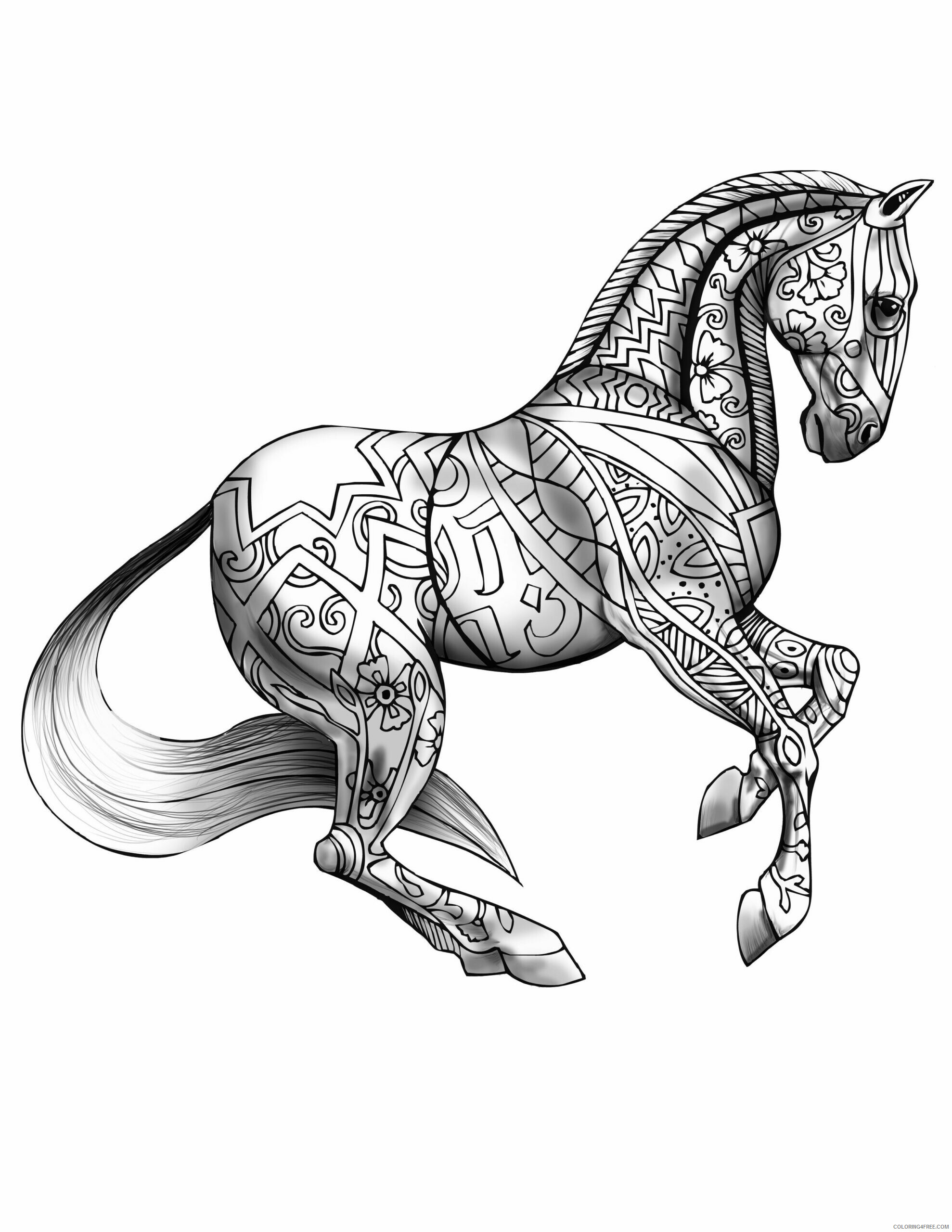 Adult Horse Coloring Pages Horse Free for Adults Printable 2020 394 Coloring4free
