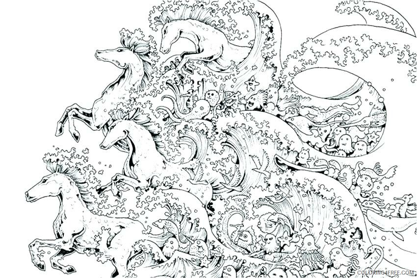 Adult Horse Coloring Pages Horses for Adults Printable 2020 416 Coloring4free