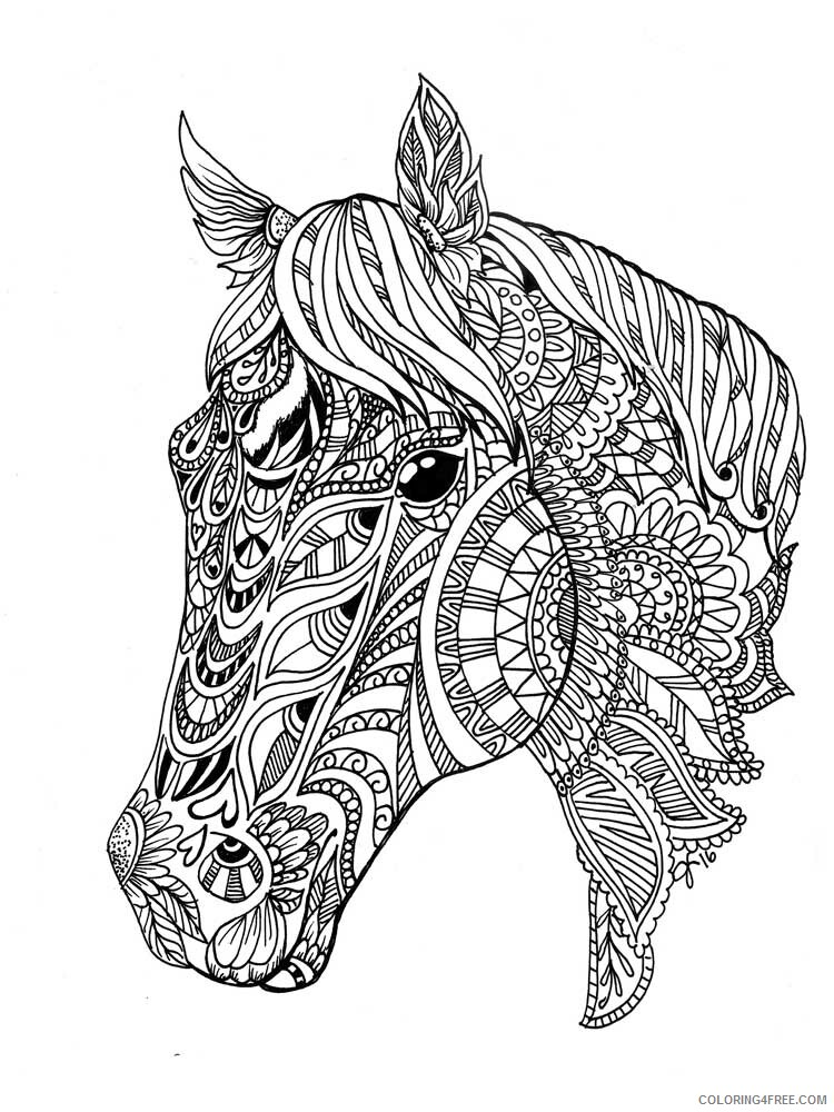 Adult Horse Coloring Pages horse for adults 1 Printable 2020 400 Coloring4free