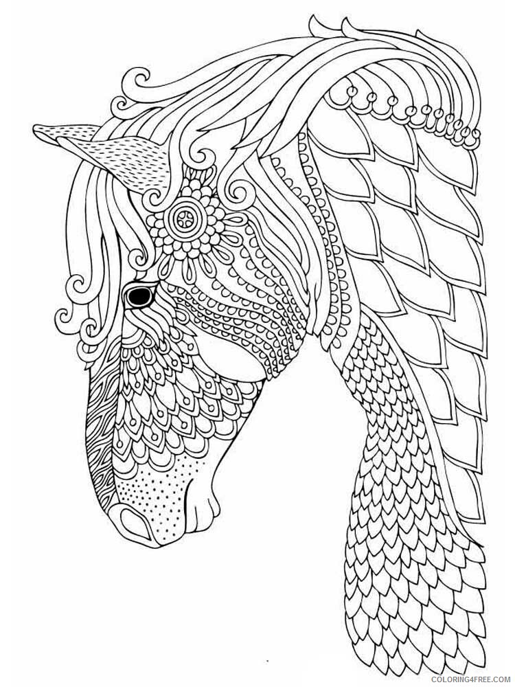 Adult Horse Coloring Pages horse for adults 10 Printable 2020 401 Coloring4free