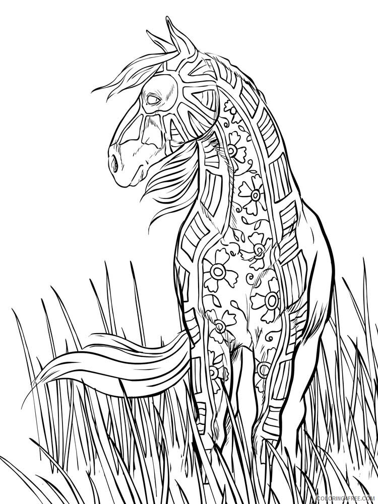 Adult Horse Coloring Pages horse for adults 12 Printable 2020 403 Coloring4free
