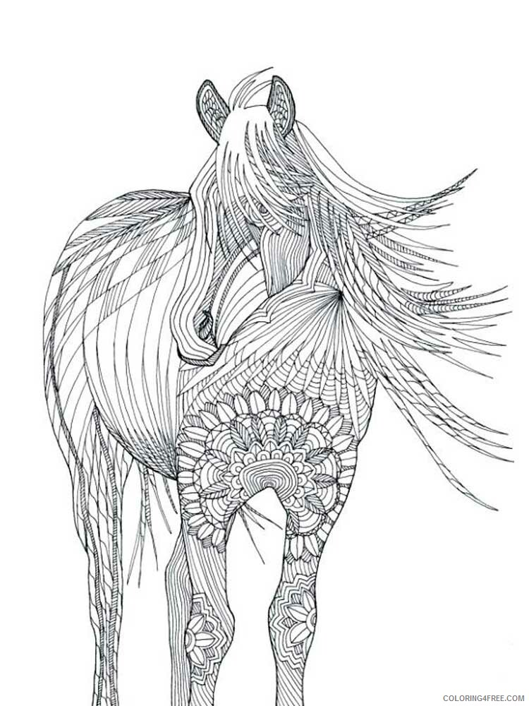 Adult Horse Coloring Pages horse for adults 13 Printable 2020 404 Coloring4free