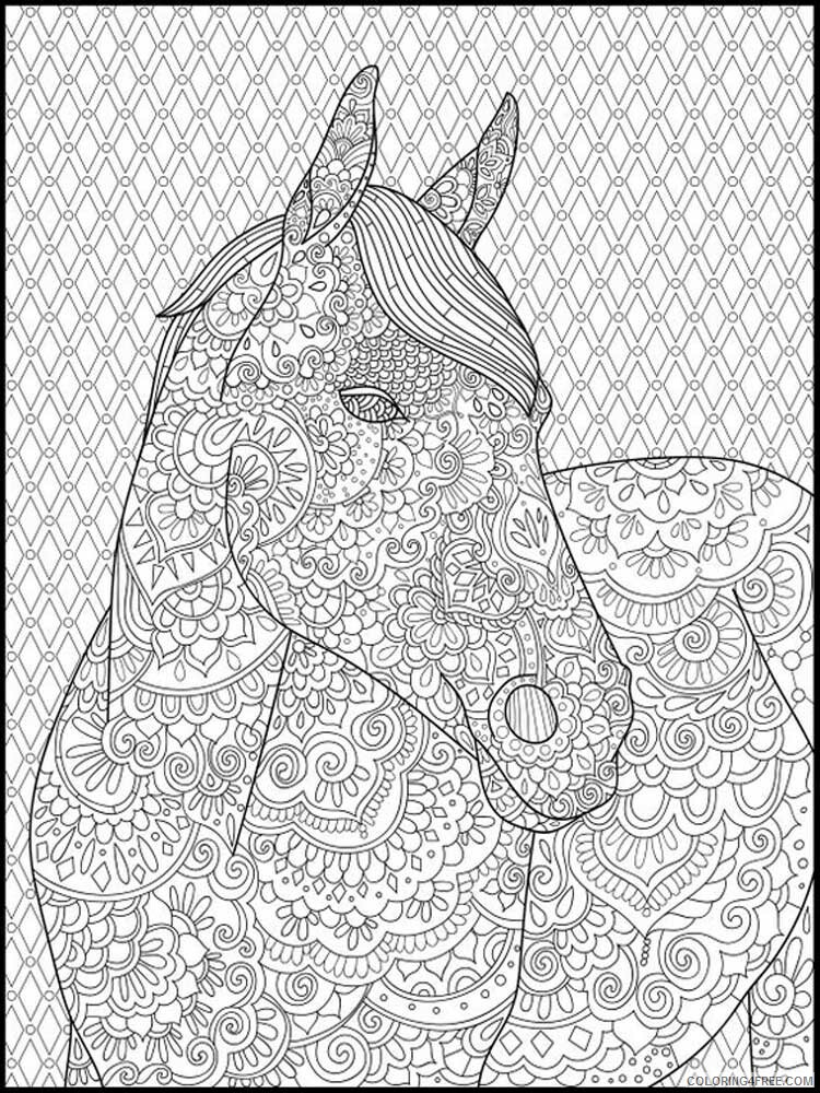 Adult Horse Coloring Pages horse for adults 15 Printable 2020 405 Coloring4free