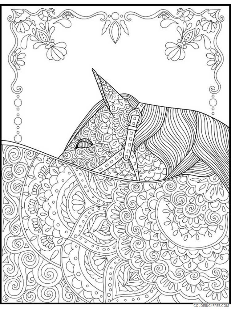Adult Horse Coloring Pages horse for adults 17 Printable 2020 407 Coloring4free