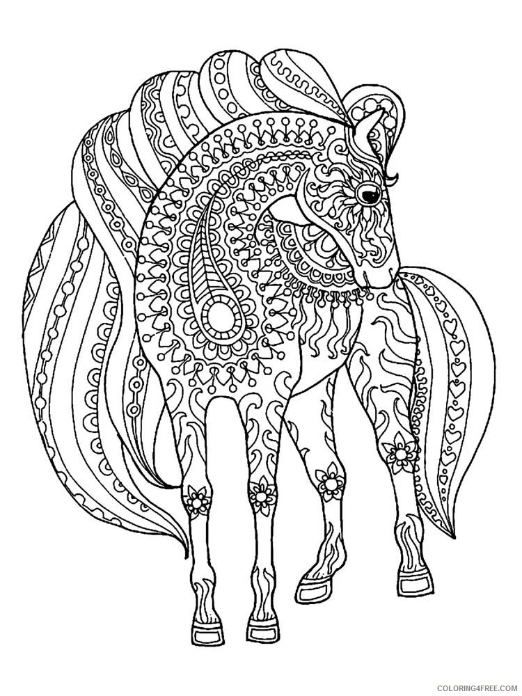 Adult Horse Coloring Pages horse for adults 3 Printable 2020 410 Coloring4free