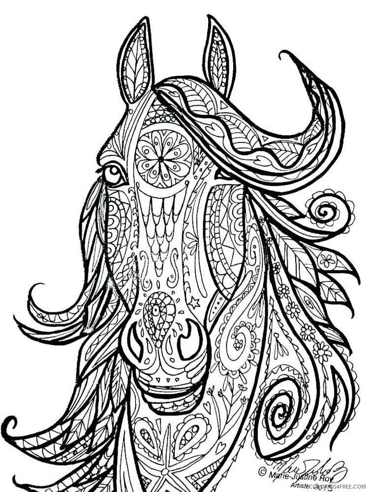 Adult Horse Coloring Pages horse for adults 4 Printable 2020 411 Coloring4free