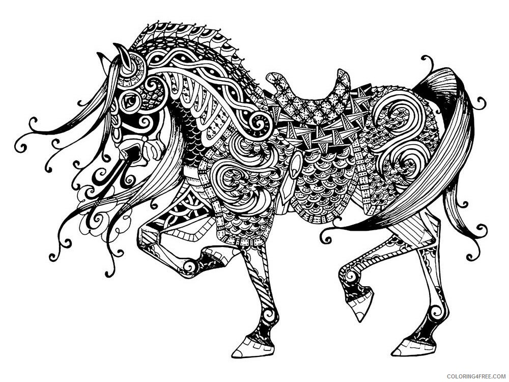 Adult Horse Coloring Pages horse for adults 6 Printable 2020 413 Coloring4free