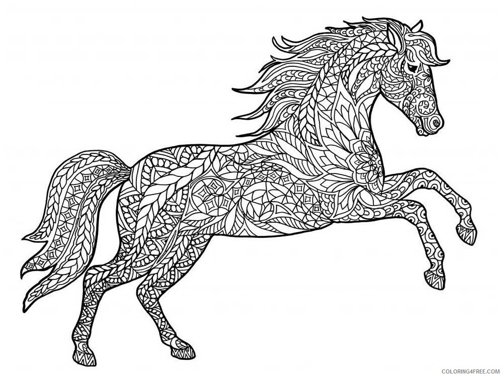 Adult Horse Coloring Pages horse for adults 8 Printable 2020 414 Coloring4free