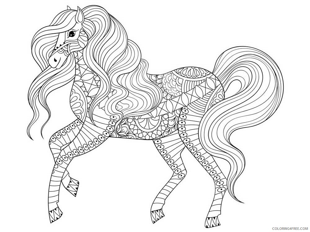 Adult Horse Coloring Pages horse for adults 9 Printable 2020 415 Coloring4free
