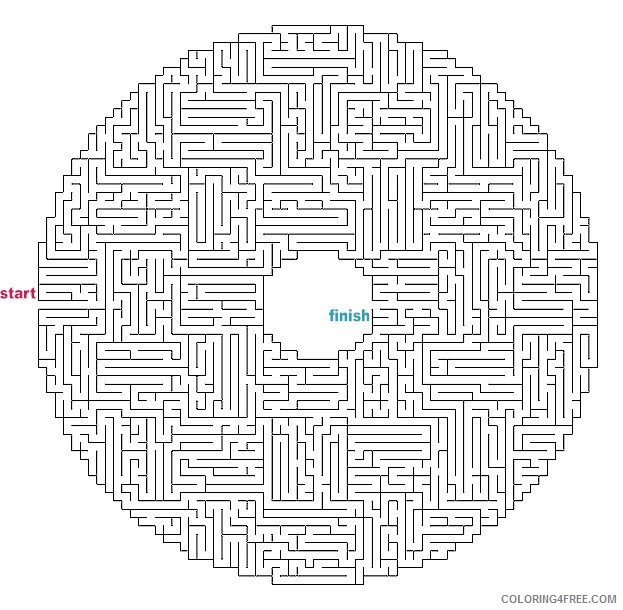 Adult Maze Coloring Pages Printable Mazes for Adults Printable 2020 425 Coloring4free