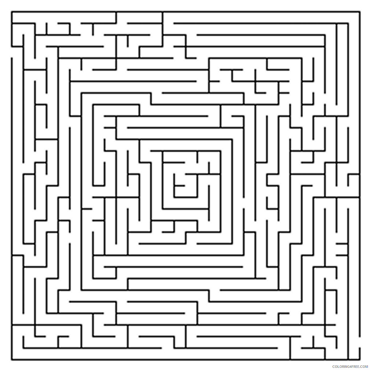 Adult Maze Coloring Pages Printable Mazes for Adults Printable 2020 426 Coloring4free