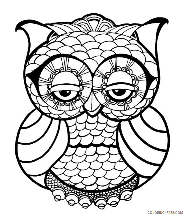 Adult Owl Coloring Pages Cute Owl for Adults Printable 2020 427 Coloring4free