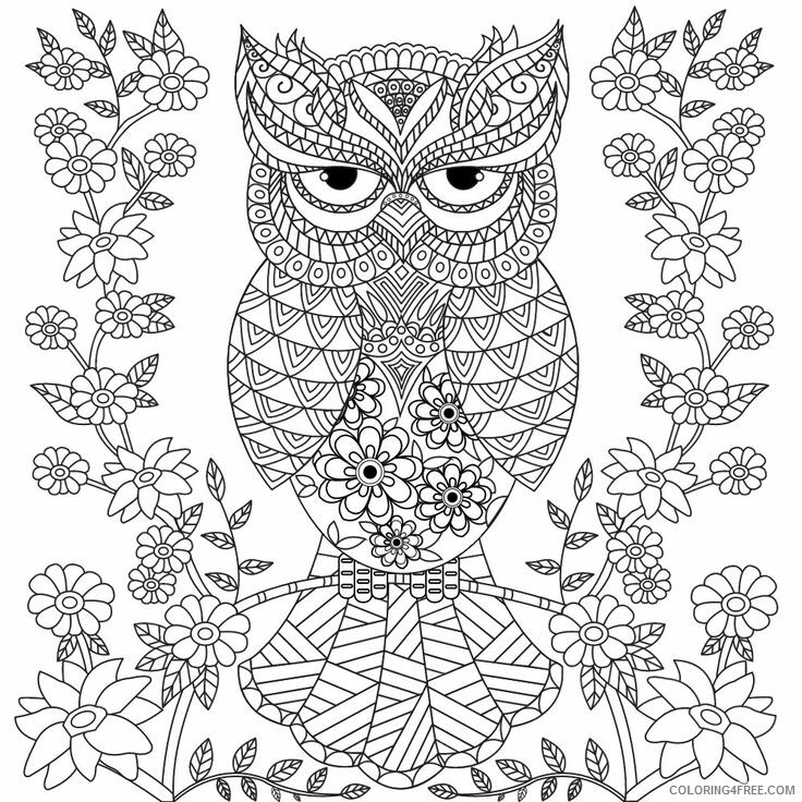 Adult Owl Coloring Pages Unique Owl For Adults Printable 2020 457  Coloring4free - Coloring4Free.com