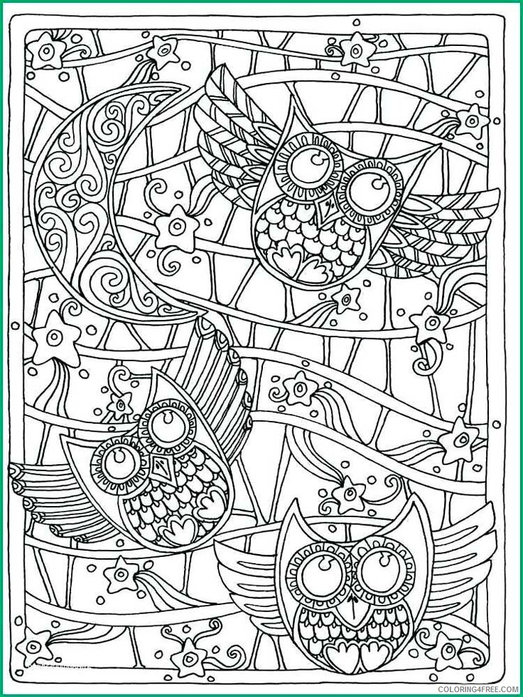 Adult Owl Coloring Pages owl for adults 15 Printable 2020 439 Coloring4free