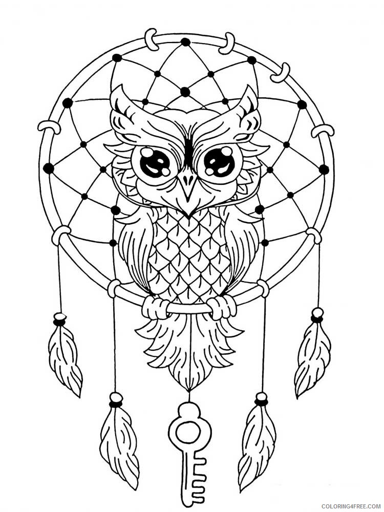 Adult Owl Coloring Pages Owl For Adults 17 Printable 2020 441 Coloring4free  - Coloring4Free.com