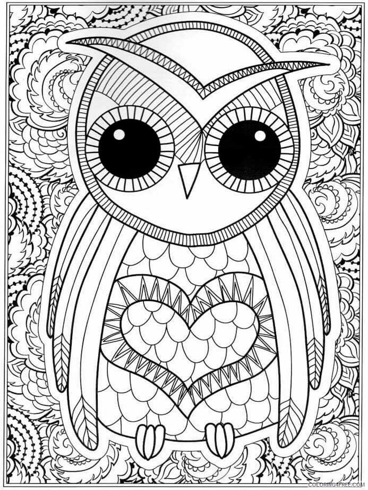 Owls Coloring Pages For Adults Www.robertdee.org