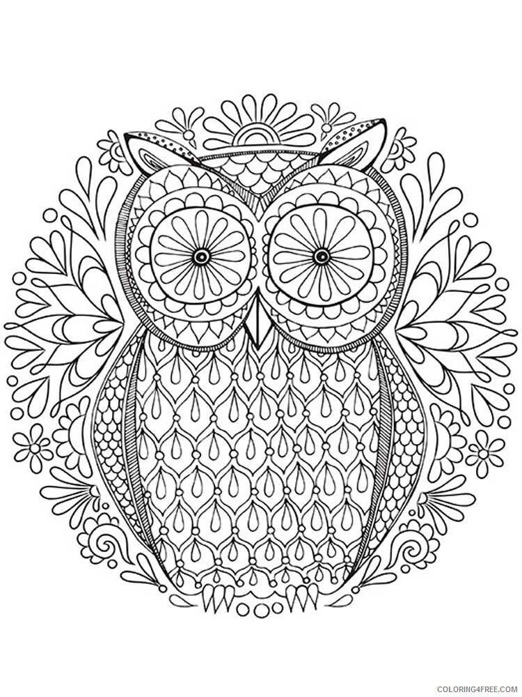 Adult Owl Coloring Pages owl for adults 8 Printable 2020 449 Coloring4free