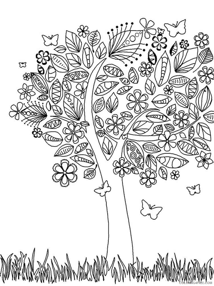 Adult Tree Coloring Pages adult tree 10 Printable 2020 490 Coloring4free