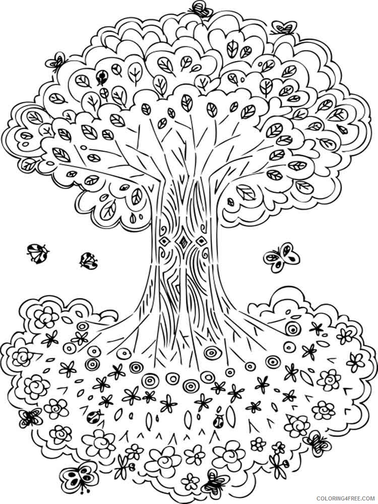 Adult Tree Coloring Pages adult tree 13 Printable 2020 492 Coloring4free